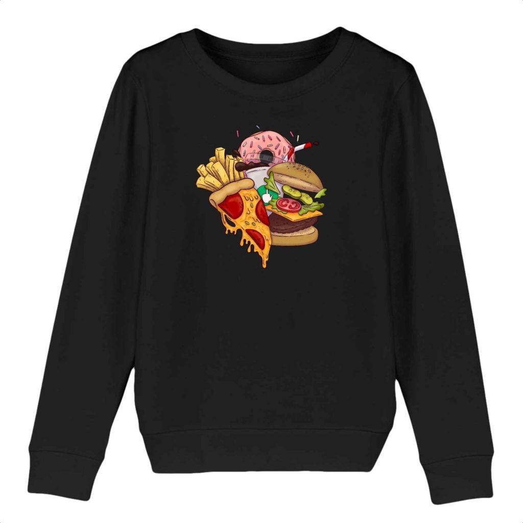 Food Organic Cotton Kids Crewneck Sweater