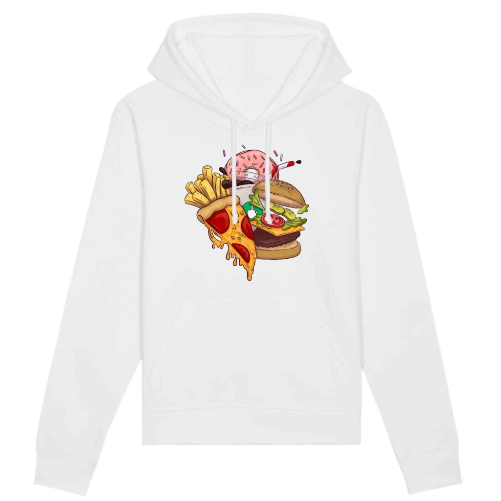 Food Organic Cotton Unisex Hoodie