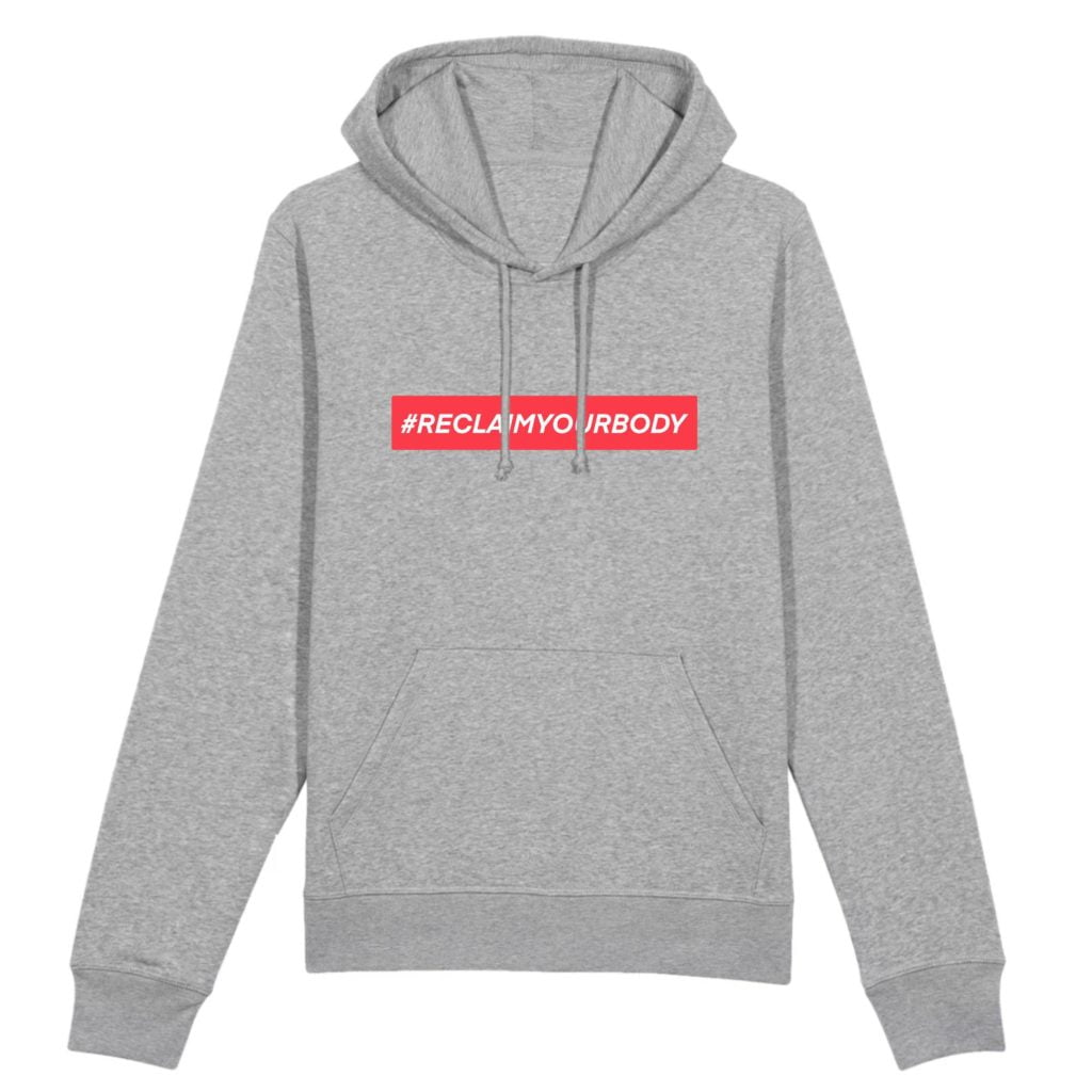 #RECLAIMYOURBODY Text Only Organic Cotton Unisex Hoodie