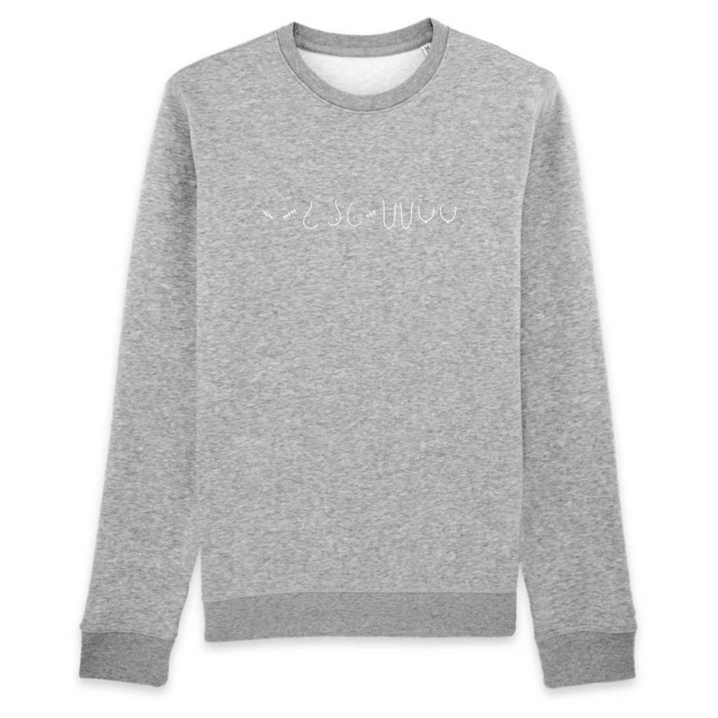 All The Boobies Organic Cotton Crewneck Sweater