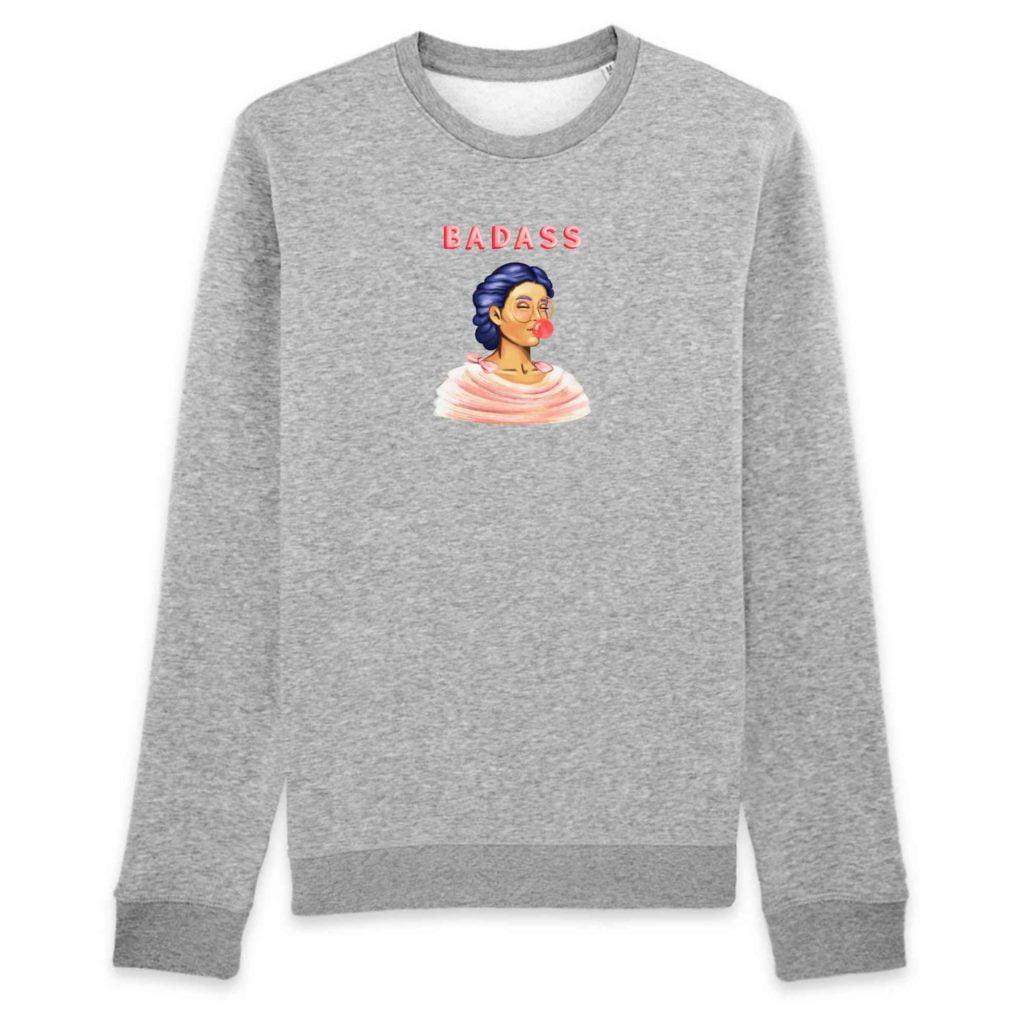 Badass Organic Cotton Unisex Crewneck Sweater