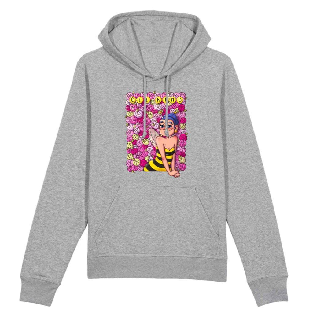 Bee Kind Organic Cotton Unisex Hoodie