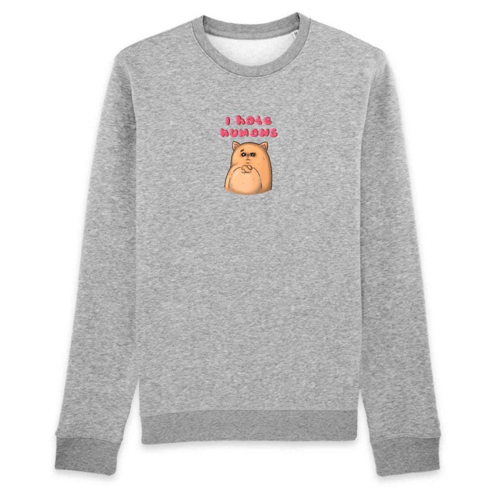 I Hate Humans Organic Cotton Unisex Crewneck Sweater