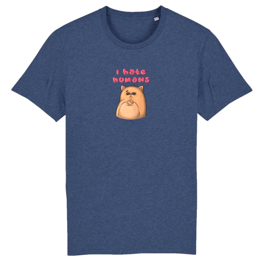 I Hate Humans Organic T-shirt
