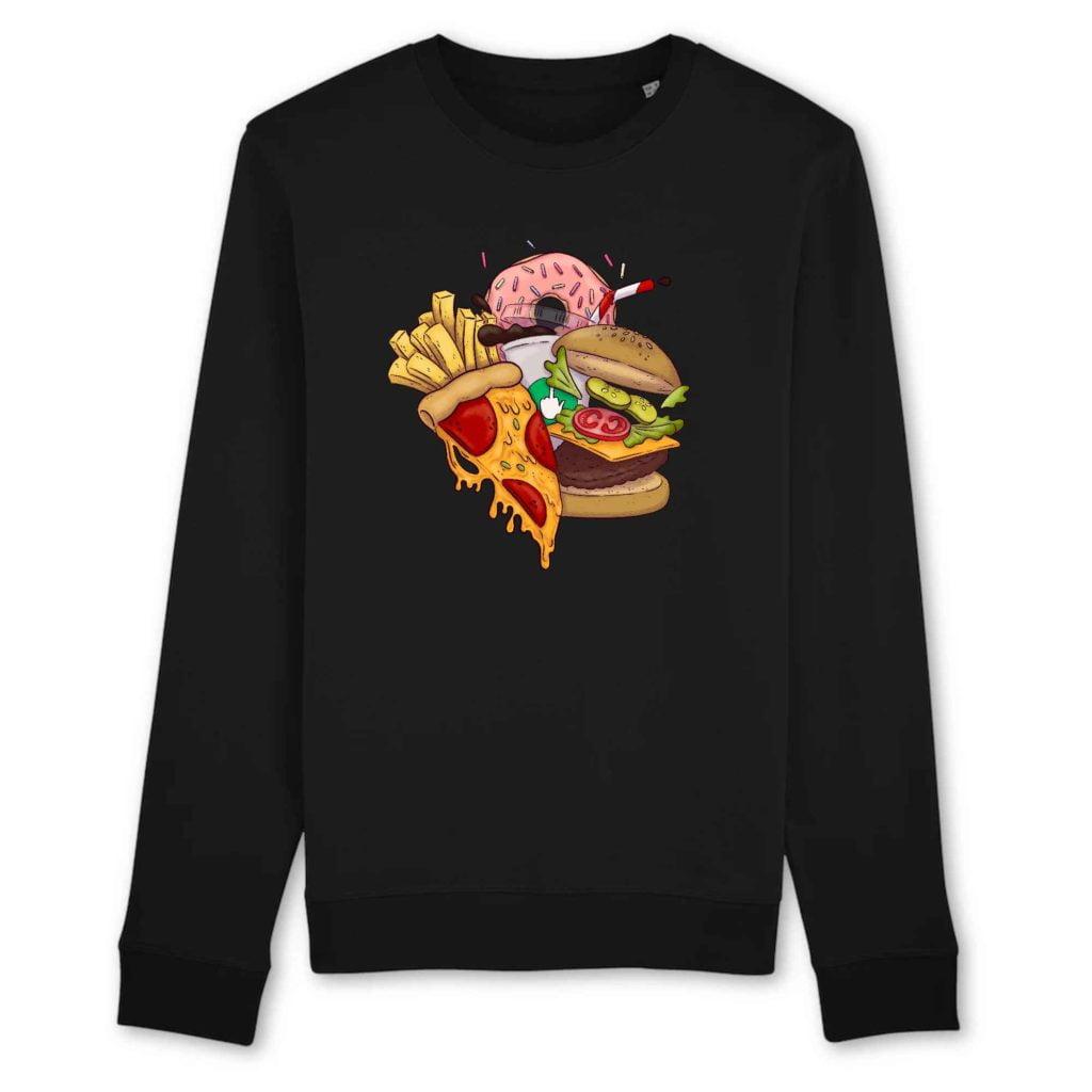 Food Organic Cotton Unisex Crewneck Sweater