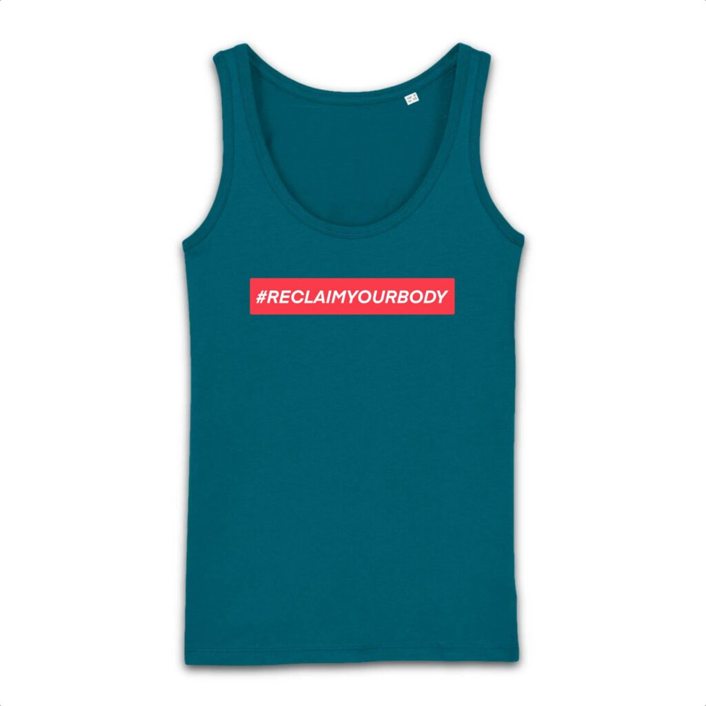 #RECLAIMYOURBODY Text-Only Organic Cotton Tank Top