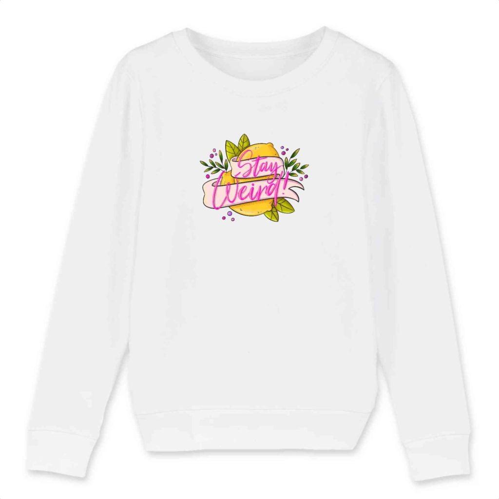 Stay Weird Organic Cotton Kids Crewneck Sweater