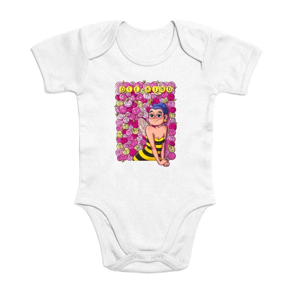 Bee Kind Organic Cotton Baby Romper